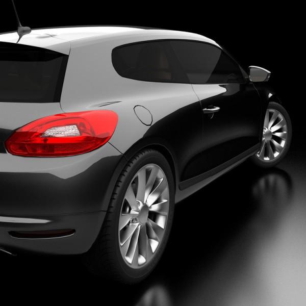 Lámina tintada para coche color negro Omega 95 K